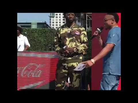 GUCCI MANE onstage at the BET AWARDS WEEKEND 106 & Park