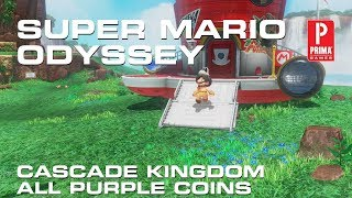 super mario odyssey cascade kingdom all purple coins