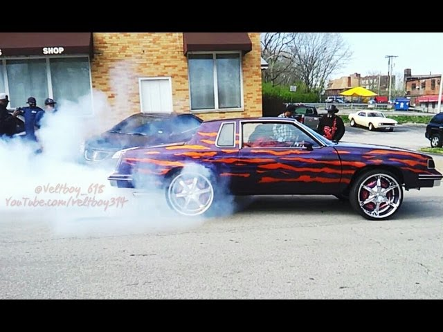 Cutlass LS Burnout Leaving Choices Car Club Car Show St Louis MO - St louis car shows
