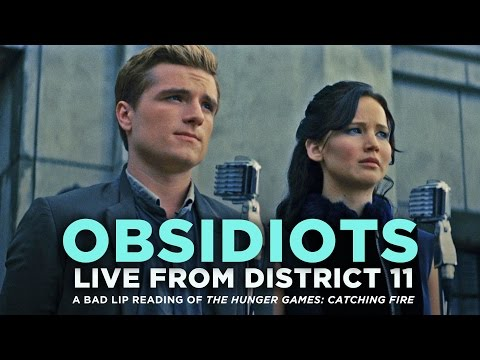 "Thumbnail: ""OBSIDIOTS: Live From District 11"" -- A Bad Lip Reading of Catching Fire"