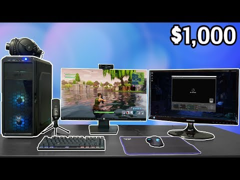 $1,000 FULL Streaming Setup (PC, Monitor, Microphone, Webcam, And MORE)