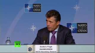 Генсек НАТО Андерс Фог Расмуссен проводит пресс-конференцию