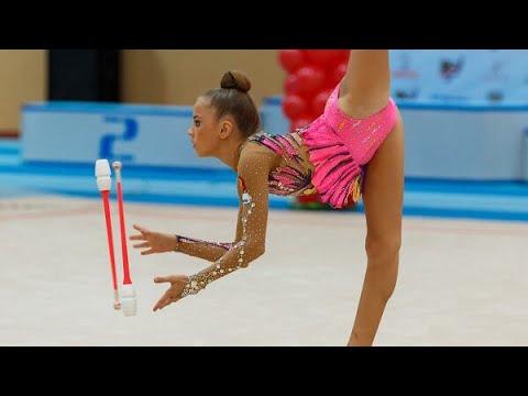 Художественная гимнастика. Анастасия Шибаева. Булавы