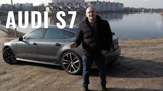 Ауди S7 vs Tesla.  Audi S7 2016 года пригнана из США в 2019