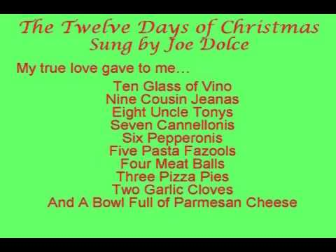 Joe Dolce's 12 Days of Christmas