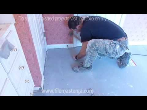 """Part """"2"""" How to install Tile Backer Board on wooden subfloor - plywood - floor installation"""