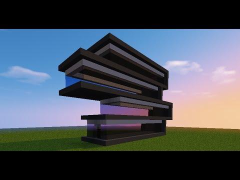 Minecraft tutorial como fazer um pr dio moderno 2 youtube for Minecraft moderno