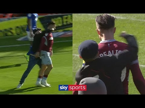AJ - Soccer Player Gets DECKED From Behind By Guy Who Runs On Field
