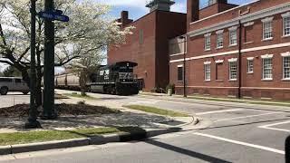 Norfolk Southern E16 Street Running in New Bern, NC April 6, 2018