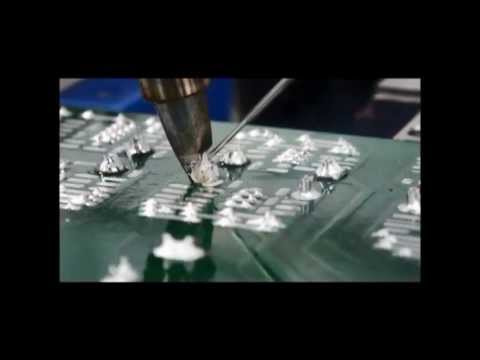 Advanced soldering heater 高熱容量基板へのはんだ付実装 (はんだ付ロボットの実演)