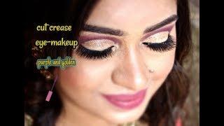 Glitter cut crease makeup || Party makeup || Complete makeup