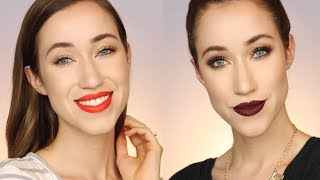 DAY TO NIGHT MAKEUP LOOK w/ DESI X KATY DOSE OF COLORS COLLECTION | ALLIE G BEAUTY