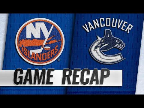 Lehner Leads Islanders To 4-0 Victory Against Canucks