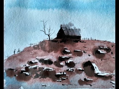 Water color tutorial – BEGINNERS | LANDSCAPE
