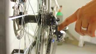 How to adjust your bicycle's rear derailleur and gears - cable tension, indexing and alignment