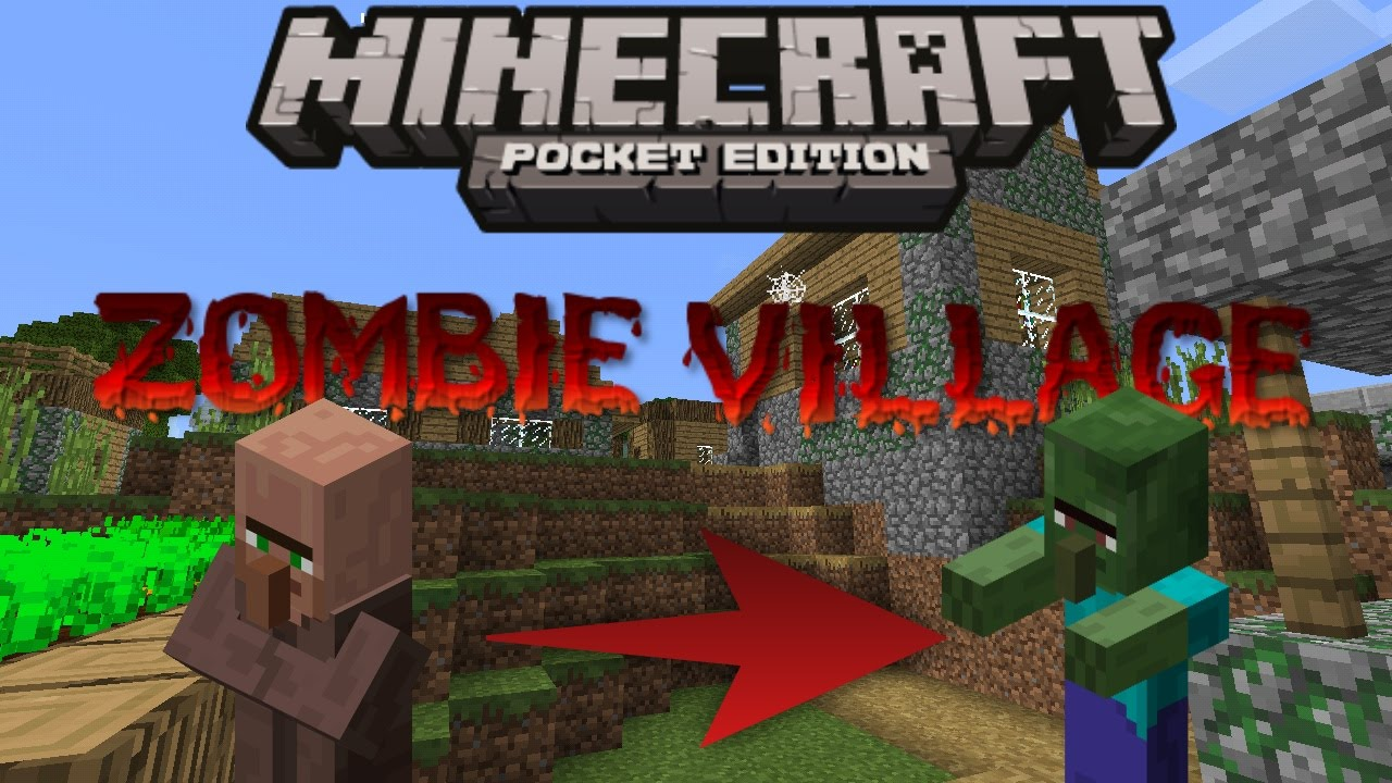 Mcpe zombie village seed youtube for Zombie build