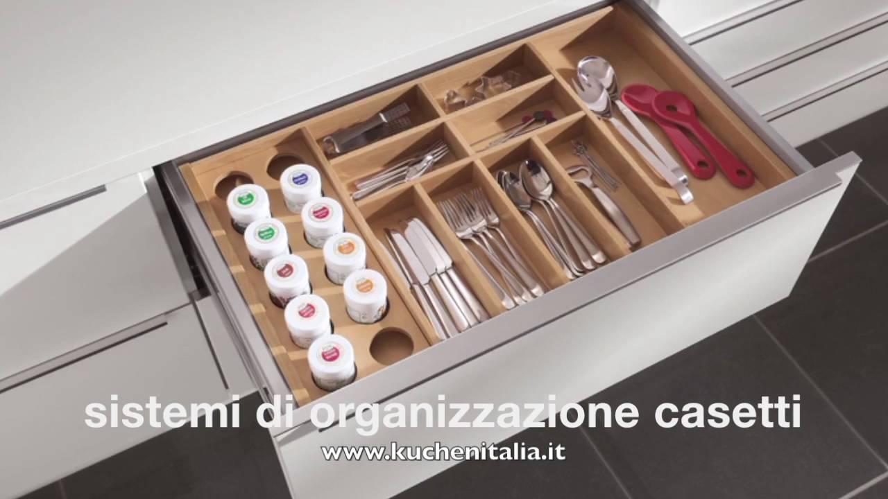 Kuchen italia sistemi di organizzazione cassetti youtube for Gli utensili di cucina