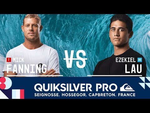 Mick Fanning vs. Ezekiel Lau - Round Two, Heat 8 - Quiksilver Pro France 2017