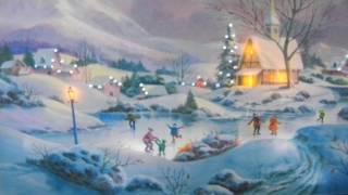 Mr Christmas Illuminated Concertina Music Box Skate in Town