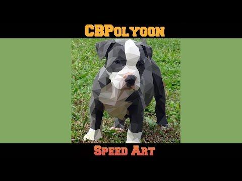 Pitbull Dog | Polygon Art