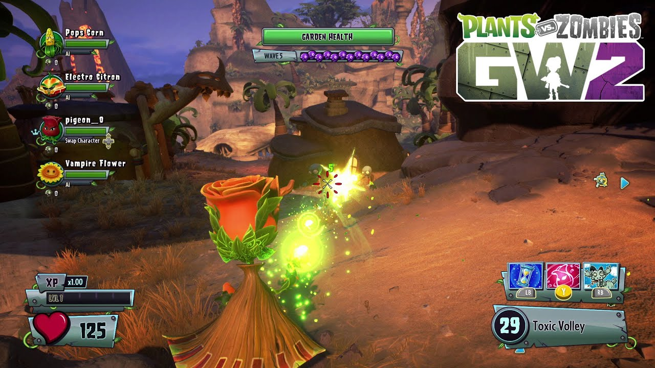Plants Vs Zombies Garden Warfare 2 Solo Ops Walkthrough Trailer