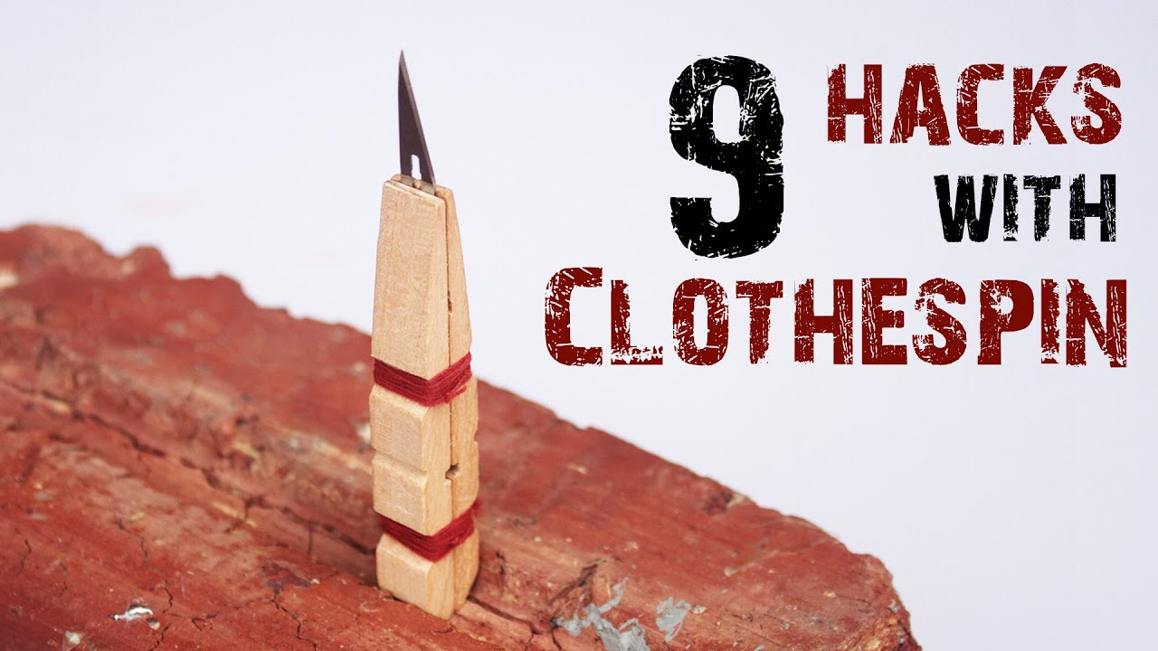9 life hacks with clothespin youtube