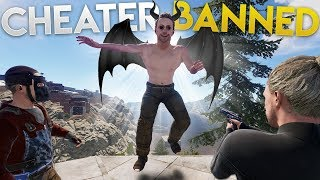 Cheater gets BANNED for FLYING into OUR BASE and Pretending to be ADMIN! | Vanilla Rust (S2-E1)