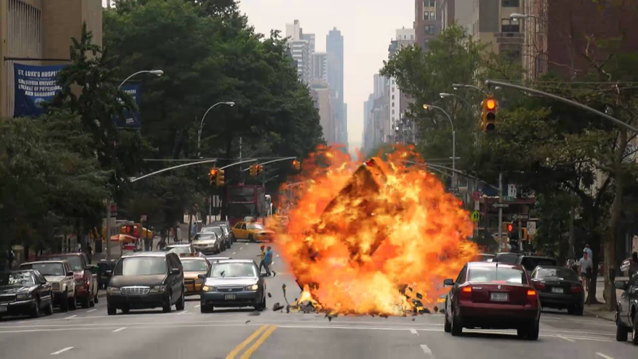 Car Chase Wallpaper Hd Green Screen Car Explosion With Sound Youtube
