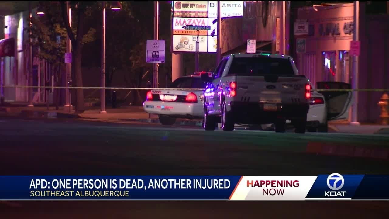 Shooting and crash in SE ABQ