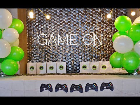 VIDEO GAME BIRTHDAY PARTY | GAME ON THEMED PARTY FOR KIDS | WITH REMOTE CONTROLLER PRINTABLES