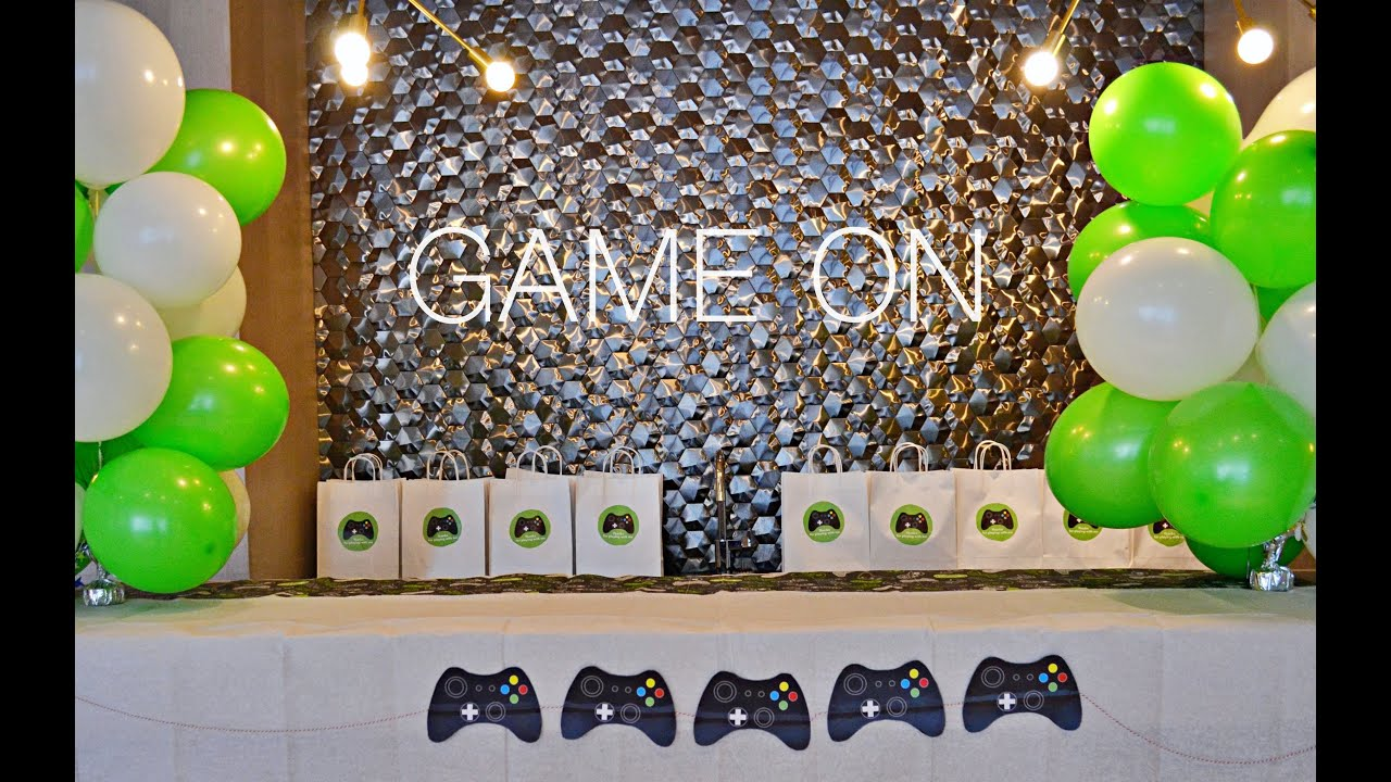 game on video game birthday party