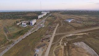 Крымскій мостъ 4К: Строительство путепровода для подходовъ