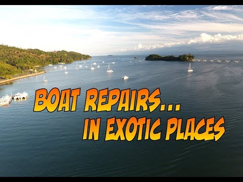 SE3 EP55 Boat repairs in Exotic places and a tour of Samana by motorcycle