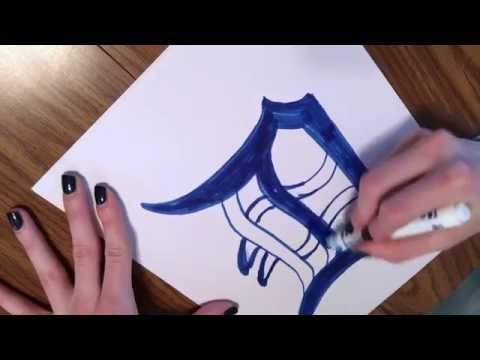 J3550 Project: How To Draw A Detroit Tiger Old English