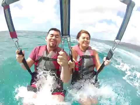 Hawaii H20 Sports Parasailing! - Tynnia And Chad