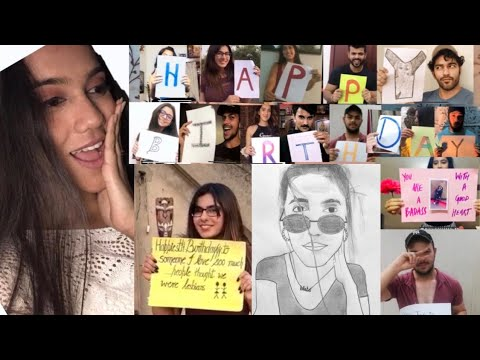 creative\surprise birthday wish