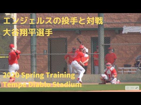 2.21.20 エンジェルスの投手陣と対戦する【大谷翔平選手】Shohei Ohtani Batting Practice against Angels' Pitchers 2020 S.T.