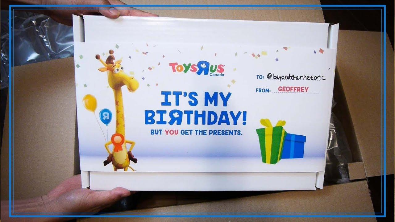Toys R Us Geoffrey Birthday Bash Gift Box Unboxing [VLOG]