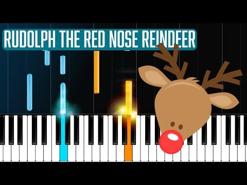 """""""Rudolph The Red Nose Reindeer"""" Piano Tutorial - Chords - How To Play - Cover"""