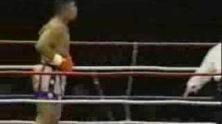 K-1 Kyokushin karate fighter Andy Hug in K1 vs Pat Smith - 1994 KO.