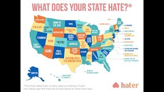 Map Shows What People Hate Most In Each State