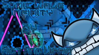 ''Geometry Dash'' (2.0) ''Sonic Wave Infinity'' (Hell Demon) By Riot And Viprin - DaxtaGamer