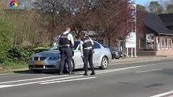 Wassenberg: Grenzkontrolle bei Rothenbach an der Deutsch Niederländischen Grenze