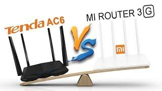 Сравнительный обзор Xiaomi Mi WiFi Router 3G VS Tenda AC6 - тест скорости и мощности wi-fi