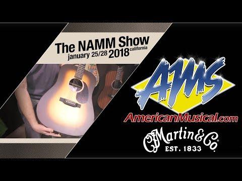Martin X Series Guitars - AMS at NAMM 2018