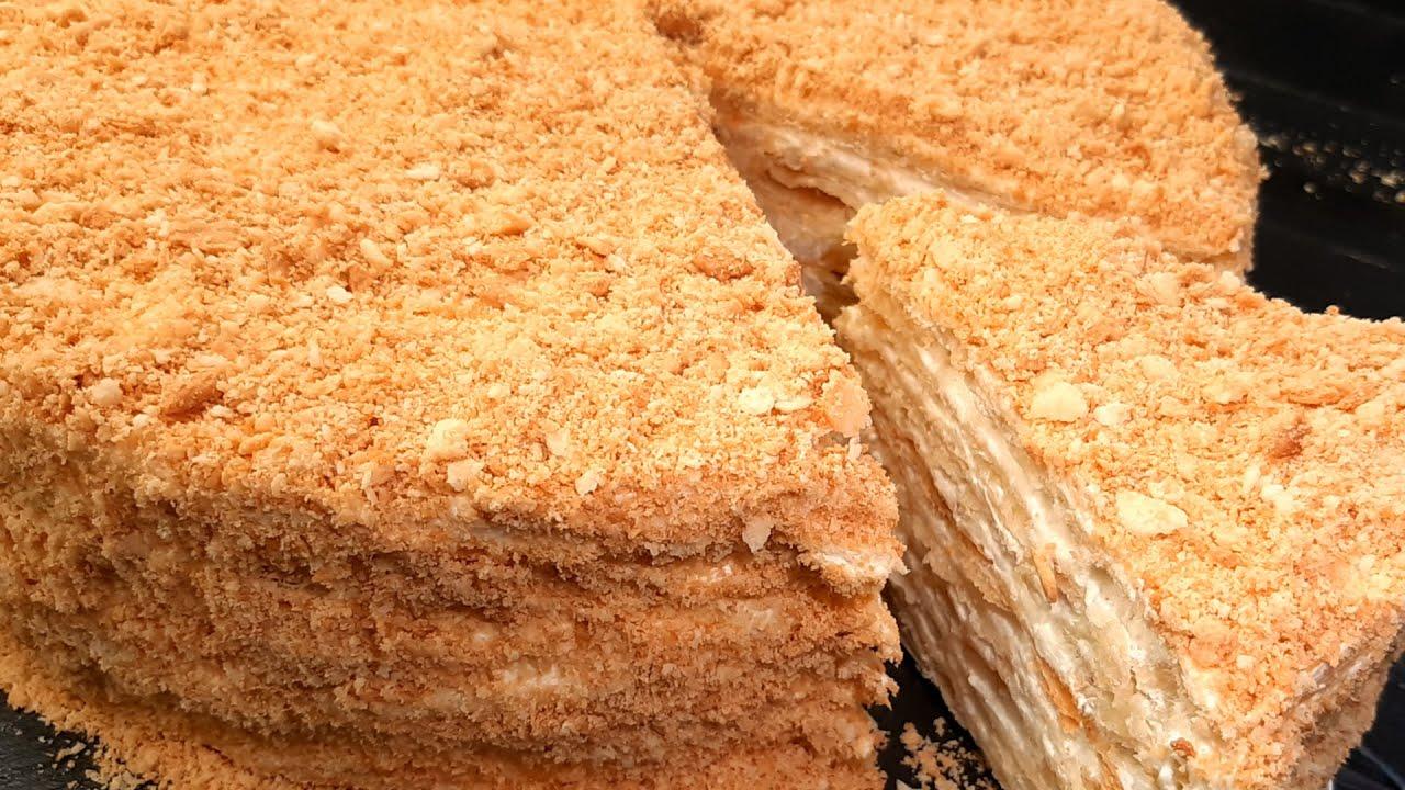 Xəmiri sadəcə 3 ərzaqla!! Super asan hazırlanan Napoleon tortu resepti. TORT NAPOLEON  MYFOODCHANNEL