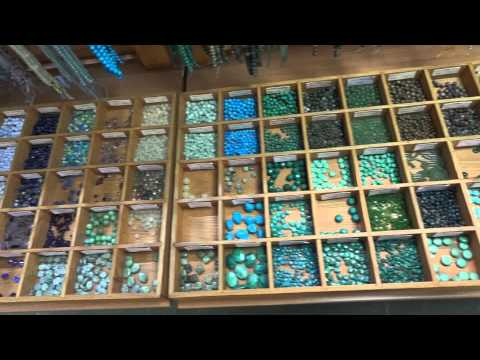 Semi-precious Beads At Beadworks Bead Shop, Covent Garden, London