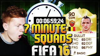 FIFA 16 7 MINUTE SQUAD BUILDER WITH GULLIT GANG MEMBER!!! Speed Squads Builder