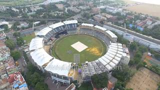 Chennai from the air stadium Madras Club Fort William Georgetown and general city views