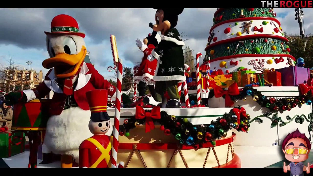 disneys a christmas fantasy parade 2017 2018 disneyland paris high quality - When Does Disneyland Decorate For Christmas 2018